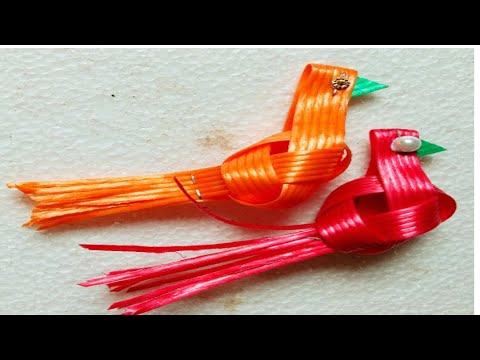 Plastic Wire Parrot/How To Make Plastic Wire Fish Wire Parrot/plastic Wire Craft/Shoba Handcrafts