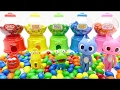 M&Ms chocolate and candy machine toy play Learn colors for kids