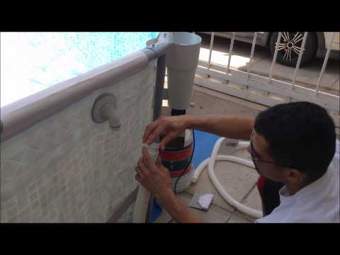 how to put a metal frame pool and filter pump together full video