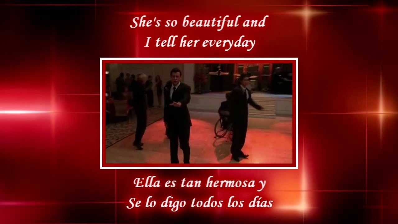 Glee - Just the way you are / Sub spanish with lyrics - YouTube