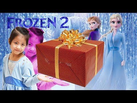 새로운 엘사 드레스가 나왔어요!! 서은이의 겨울왕국2 새로운 엘사 코스튬 이랜드리테일 선물 Princess Elsa Dress of Frozen 2