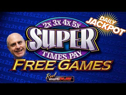 🌟SUPER JACKPOT 🌟Super Times Pay Free Games SLOT WIN! | The Big Jackpot