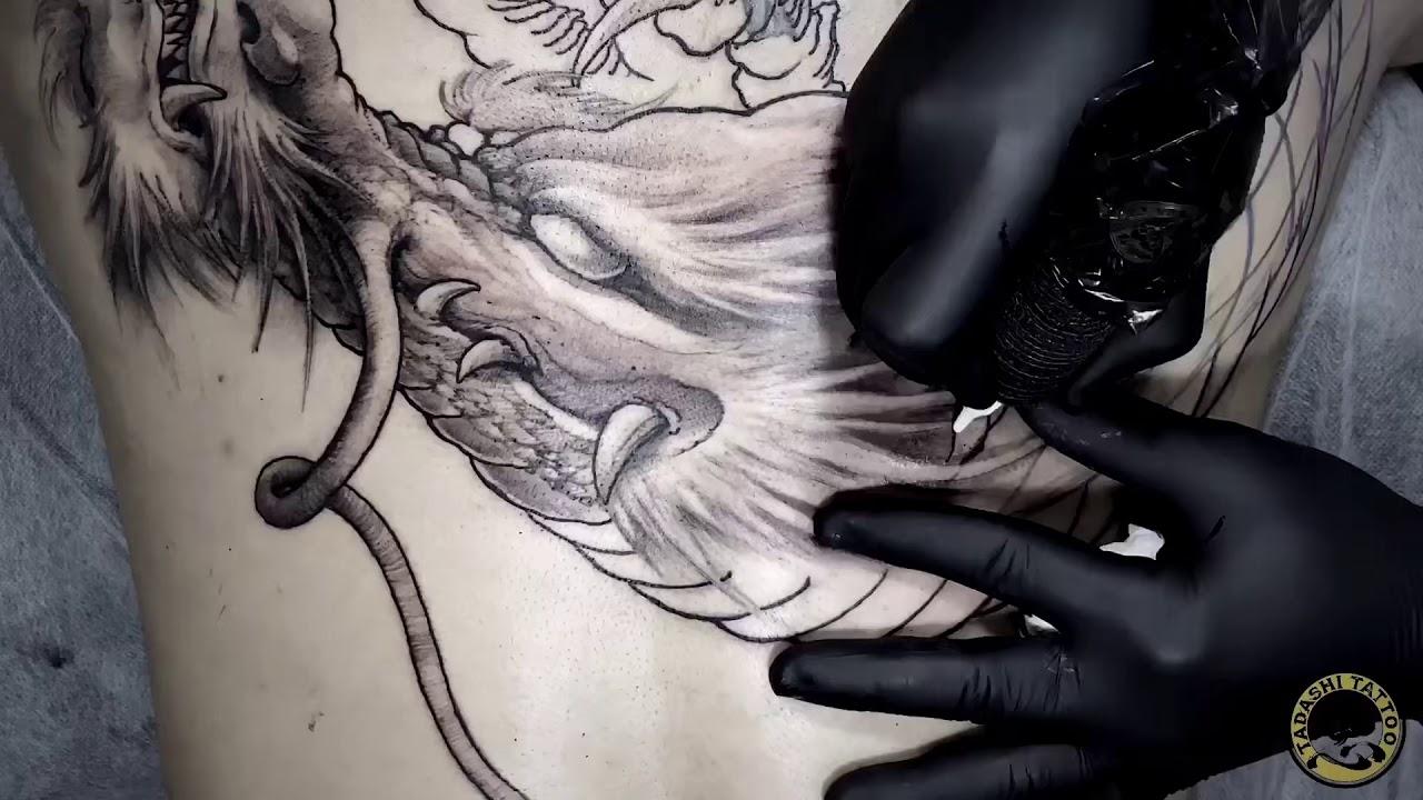 Cover hình xăm rồng full lưng | Sửa hình xăm cũ thành tác phẩm nghệ thuật mới bằng cả trái tim