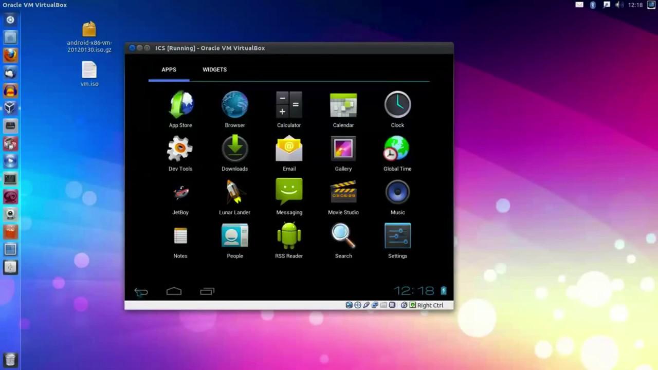 Installing Android on Ubuntu via VirtualBox - YouTube