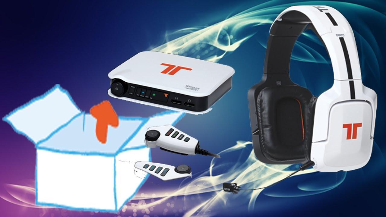 fcef2c952e9 Unboxing - Tritton PRO+ 5.1 Surround Headset für PS4/PS3, Xbox 360, PC/Mac  - Weiss