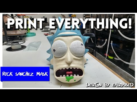 Rick Sanchez Mask from Rick and Morty -  Print Everything!