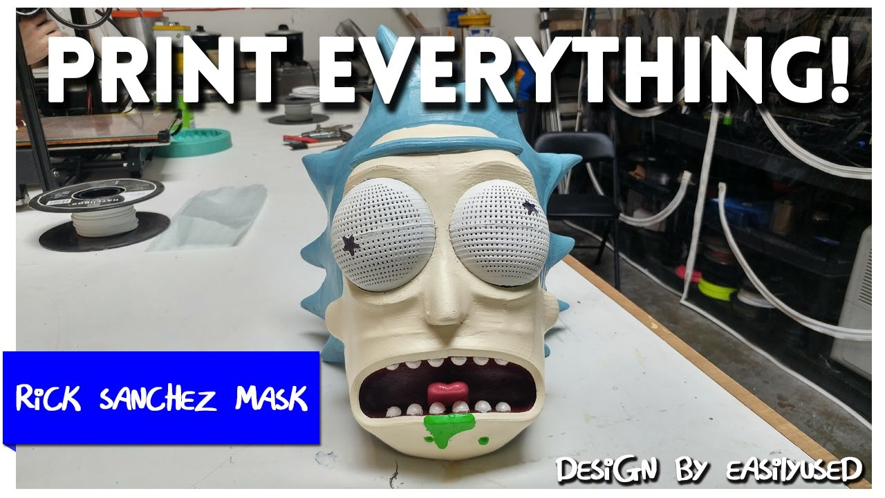 Rick cosplay Rick head-helmet from Rick and Morty Rick mask