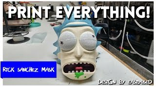 Rick Sanchez Mask from Rick and Morty -  Print Everything
