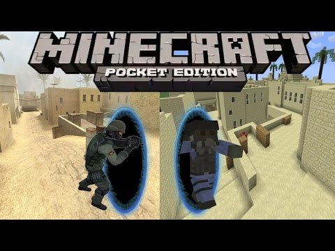 Counter Strike Minecraft PE (тест)