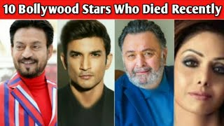 10 Famous Bollywood Stars Who Died Recently | Sushant Singh Rajput | Death Indian Celebrities 2020