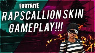 FORTNITE - RAPSCALLION SKIN GAMEPLAY!!! (Jailbird Set)