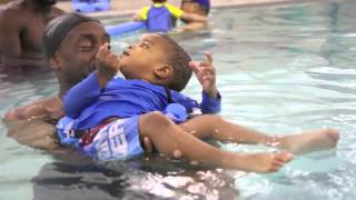 Watch: Toddlers enjoy a swim class at the YMCA