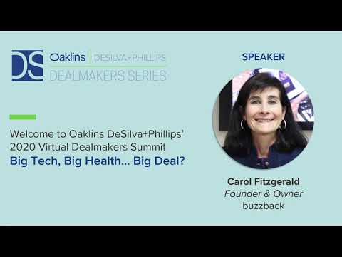 ODP Virtual Dealmakers Summit – Big Tech, Big Health… Big Deal? Carol Fitzgerald, Buzzback