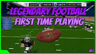 First Time Playing Legendary Football | Roblox Legendary Football Lets Play With Nick #1