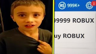 Child Buys $35,000 from Robux with his mom's credit card (ROBLOX)
