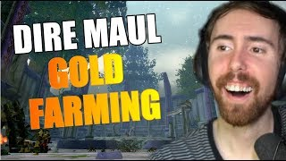 Asmongold Reacts To TOP 5 DIRE MAUL GOLD FARMS! - Punkrat