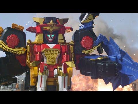 Power Rangers Ninja Steel - All Megazord Fights (Episodes 2-8)