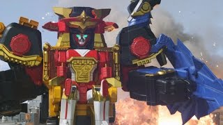 Power Rangers Ninja Steel - All Megazord Fights | Episodes 2-8