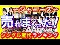 【ジャニーズ】売れまくったヒット曲ランキング!歴代シングル売上TOP25!SMAP、Kinki Kids、嵐・・・【芸能トレンド大好きch】