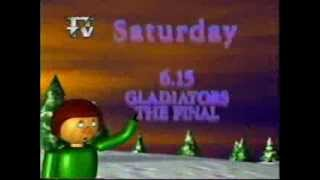 Christmas on ITV Tyne Tees 1995 Gladiators trailer
