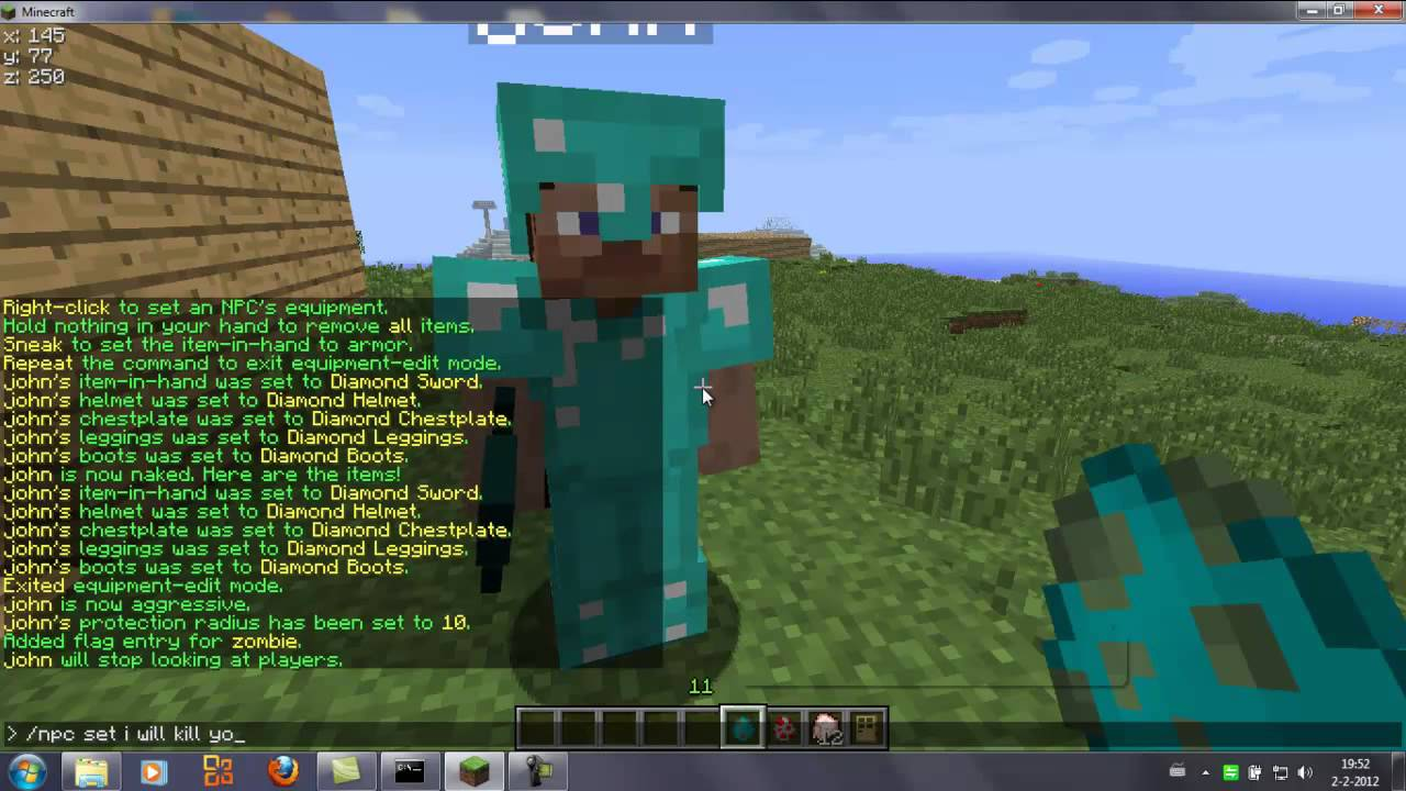 Minecraft Tutorial How To Make Your Own Guard Wizard