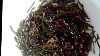 Салат для похудения из МОРСКОЙ КАПУСТЫ с кунжутком и брусникой