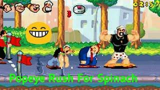 Popeye Rush For Spinach   PSP Emulator Game   Jash GamePlay