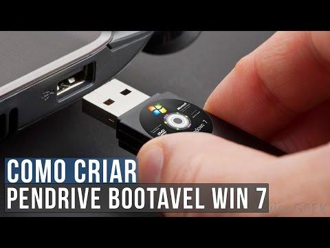 Como Criar Um PENDRIVE Bootavel Do Windows 7 Ultimate SP1