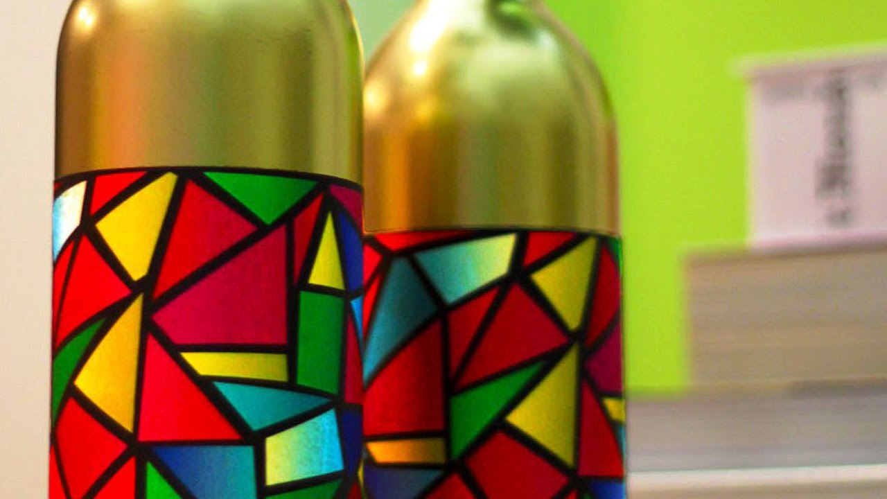 Holiday Stained Glass Bottle Vases  YouTube