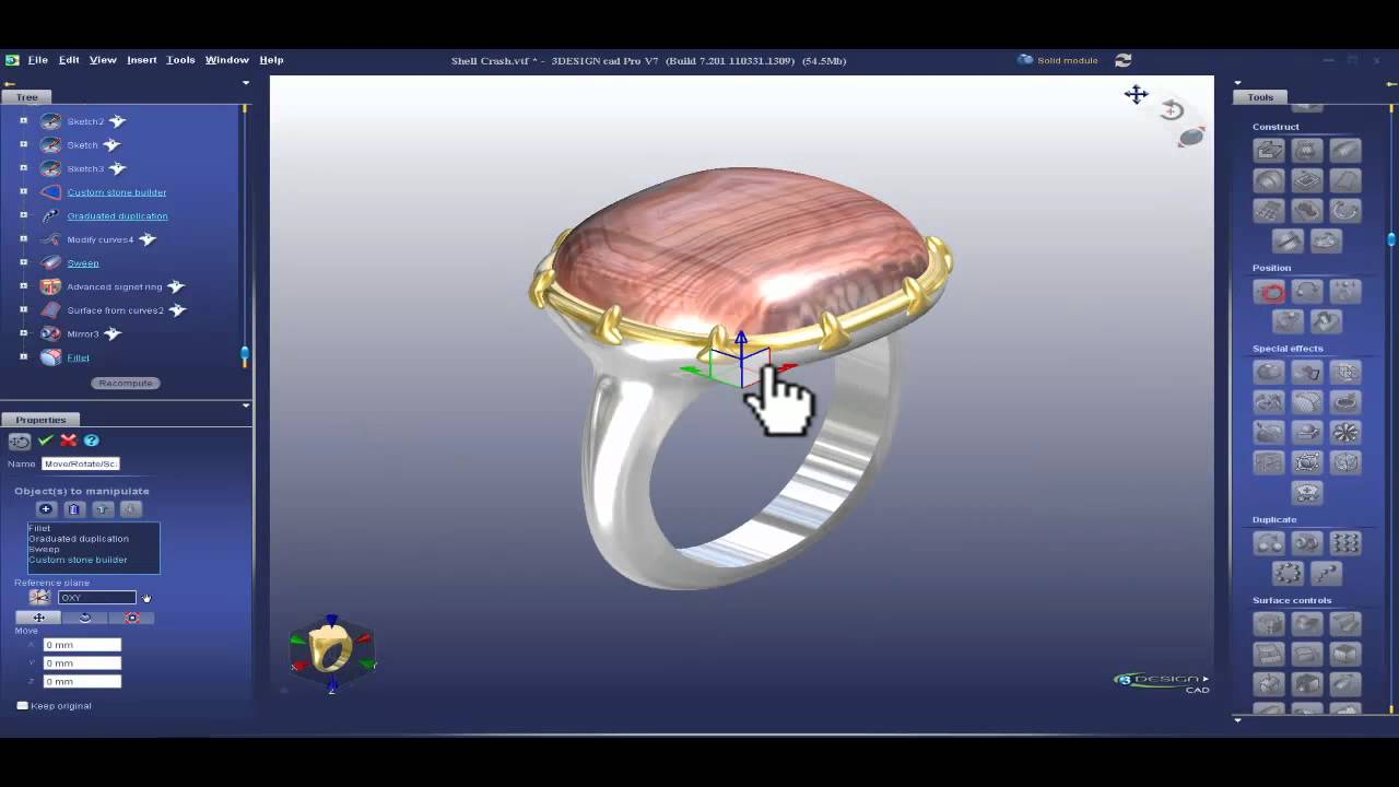 parametric power 3design cad 7 jewelry design software