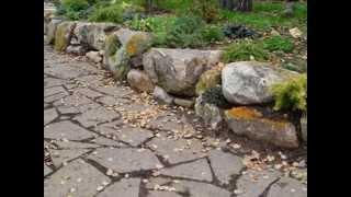 Как сделать дорожку из камня?(Как сделать дорожку из камня красиво и в натуральном стиле, как будто она обросла травой или мхом, чтоб шаг..., 2014-12-01T14:12:07.000Z)