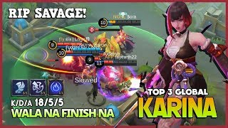 RIP Savage Queen of Executor! WALA NA FINISH NA Top 3 Global Karina ~ Mobile Legends