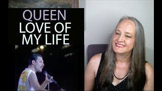 ... --vocal coach, valerie white williams, reacts to queen performing love of my life live. brian m...