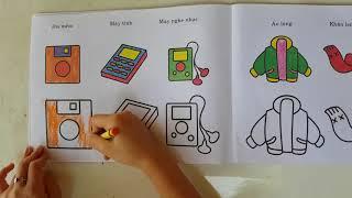 Bé tô màu - bút màu cho bé. Bé tập tô màu