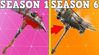 RANKING EVERY BATTLE PASS PICKAXE FROM WORST TO BEST! (Season 2-6!) | Fortnite Battle Royale!