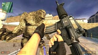 Counter Strike Source Zombie Horror Boss fight Online Gameplay on Coroners map