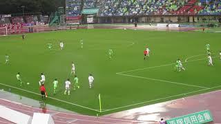 J2優勝決定 20171029 湘南ベルマーレ対ファジアーノ岡山 ジネイのポストプレイはわずかに合わず