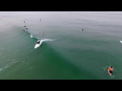 Surfing Manhattan Beach