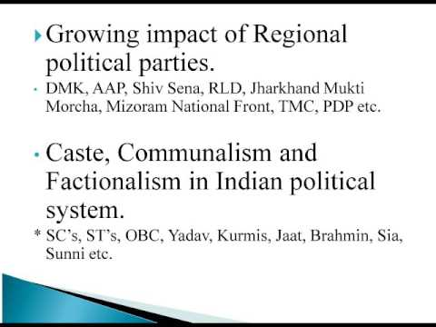 INDIAN POLITICAL SYSTEM - OVERVIEW
