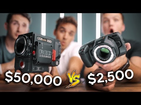 Black Magic Pocket Cinema 6k vs. RED Weapon 6k