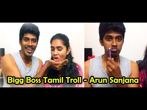 Arun Sanjana Real Couple / Speech to big boss Tamil Funny  Video
