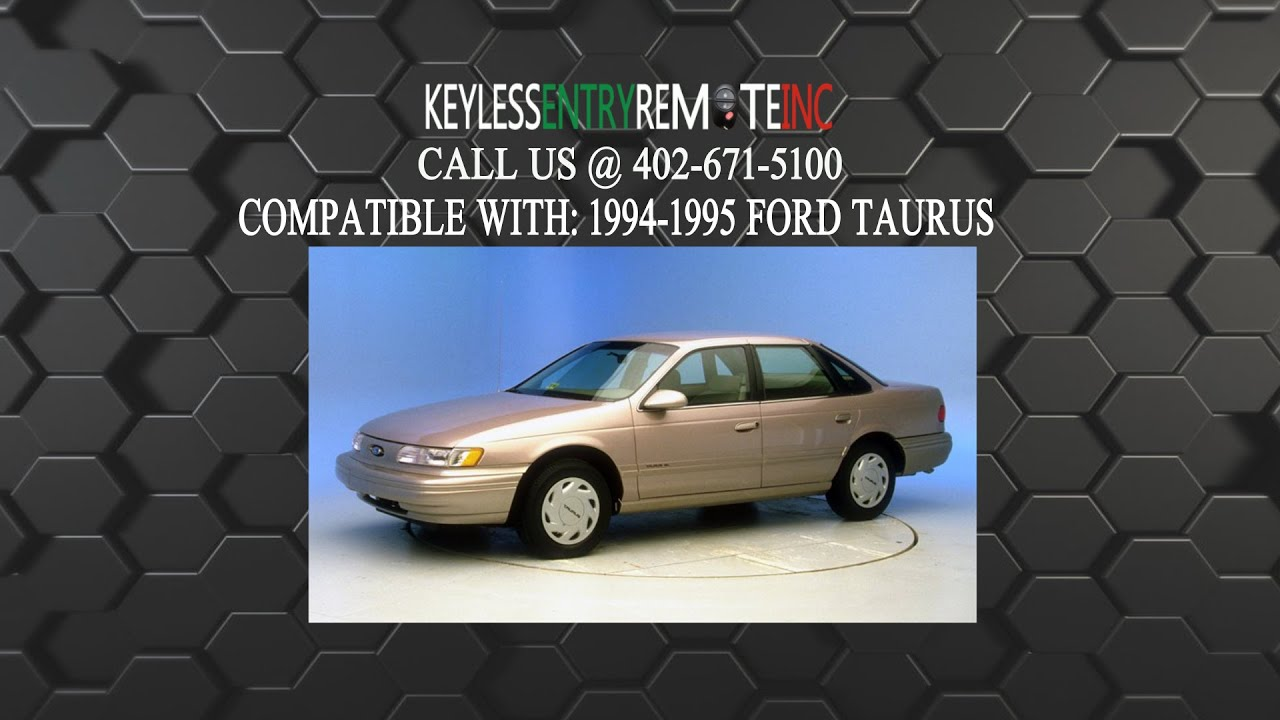 How To Replace Ford Taurus Key Fob Battery 1994 1995 & How To Replace Ford Taurus Key Fob Battery 1994 1995 - YouTube markmcfarlin.com