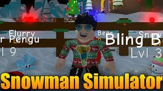MY SNOWMAN INCREASES! 😱😈 | ROBLOX: Snowman Simulator #2