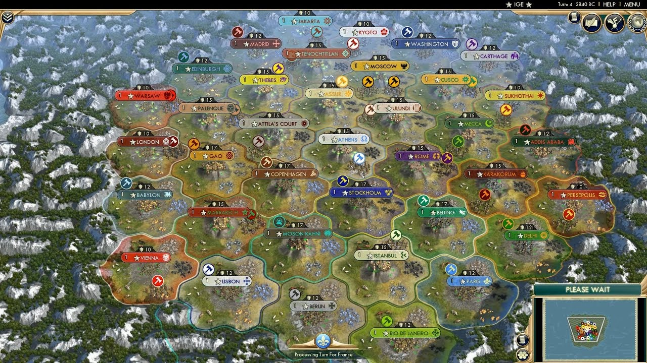 Civ 5 AI Only Timelapse: 37 Civs on the Duel Map - YouTube Civilization Maps Download on