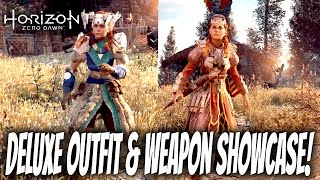 Horizon Zero Dawn DLC : Deluxe Outfit & Weapon Showcase (Banuk Trailblazer, Carja Storm Ranger)