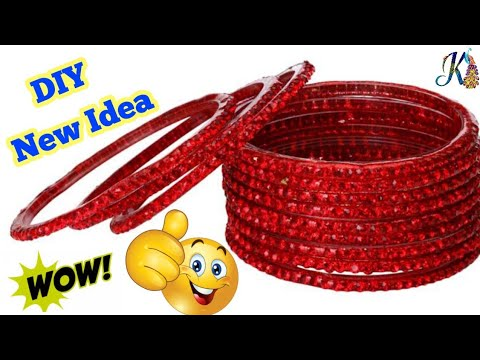 How to reuse old bangles at home   Best out of waste   DIY art and crafts   old bangles craft ideas