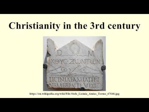 Christianity in the 3rd century