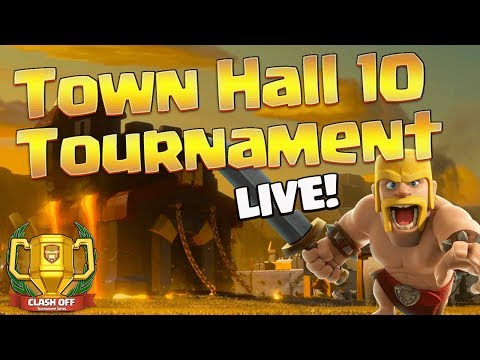 LIVESTREAM: TH 10 Tournament Live! $25 Prize! | Clash of Clans