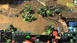 Sc2 Educational Commentary #3 -  Terran vs Zerg (Gold Bases, Mules, Scouting)