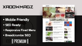 XadowMagz Blogger Template [Premium] Now Free